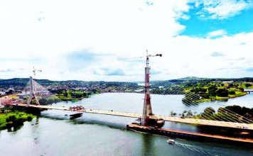 The second Nile Bridge is ready for use after going through static road tests