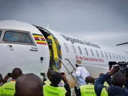 First Uganda CRJ900 Aircraft Arrives at Entebbe