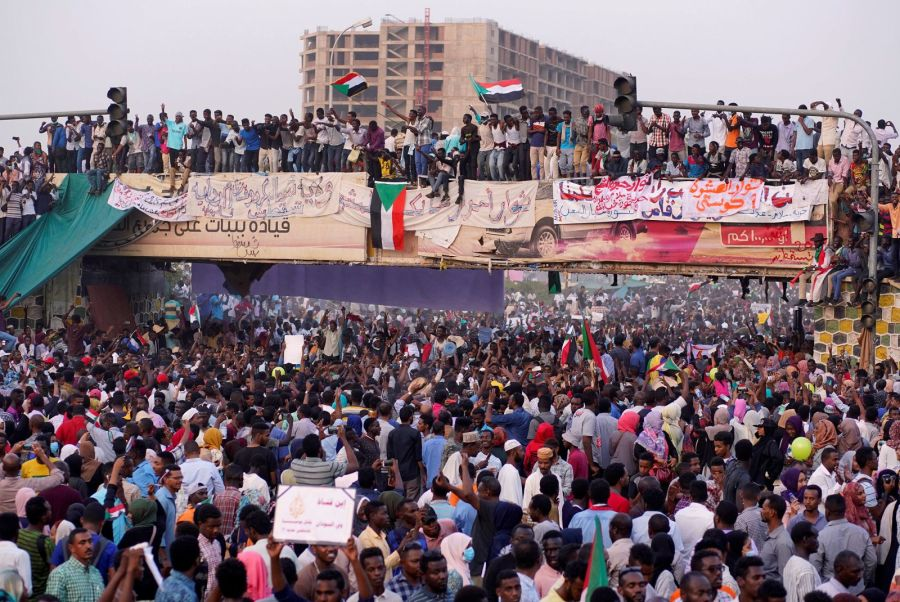 Demonstration rally that led to the downfall of President Omar Al-Bashir