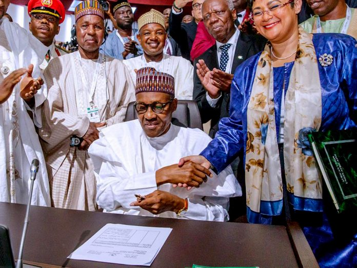 Nigeria signs African continental free trade area agreement to enhance Intra-Africa trade and create the world's largest trading bloc